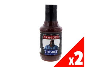 Big Moe Cason I-80 BBQ Sauce Bottle 16oz Barbeque BBQ Flavouring Sweet 2 Pack
