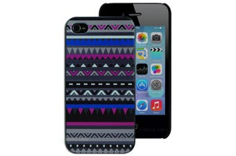 Pink Blue and Grey Aztec Hard Back Case for Apple iPhone 4 4S