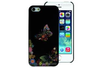 Butterfly Flower hard Plastic Back Cover for Apple iPhone 5 5S SE