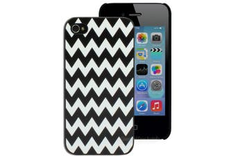 Black and White Chevron Hard Printed Case for iPhone 4 4S