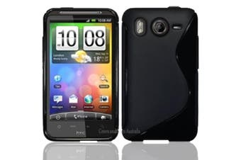 Premium Black Case for HTC Desire HD Soft Silicone Curved S Line Gel Cover