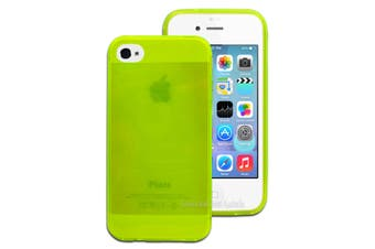 """Bright """"Fluoro"""" Green Soft TPU Gel Case for Apple iPhone 4 4S"""