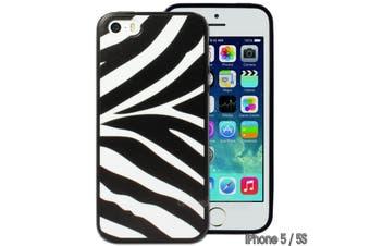 Zebra Black White Printed Hard Back Case for Apple iPhone 5 5S SE