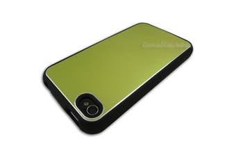Green Aluminium Black Plastic Hard Case for Apple iPhone 4 4S