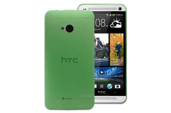 Green Ultra Thin Frosted Matte Flexible Plastic Hard Case for HTC One M7 Cover