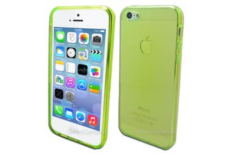 Bright Green Flexible Soft Case for Apple iPhone 5 5S SE