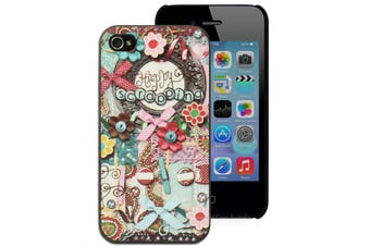 Happy Scrapping Scrapbook Hard Printed Case for iPhone 4 4S