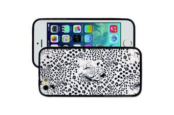 White Black Leopard Printed Hard Back Case for Apple iPhone 5 5S SE