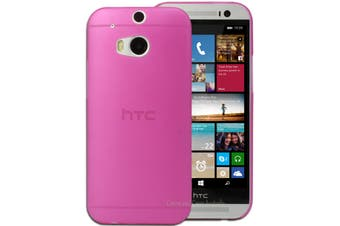 Dark Pink Ultra Thin Frosted Matte Flexible Hard Case for HTC One M8 Cover