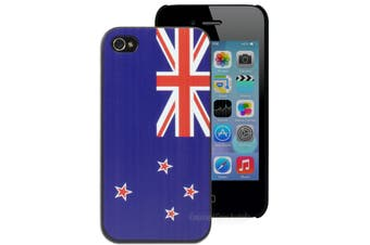NZ New Zealand Flag Hard Printed Case for iPhone 4 4S