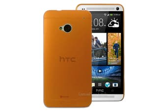 Orange Ultra Thin Frosted Matte Flexible Plastic Hard Case for HTC One M7 Cover
