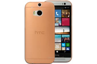 Orange Ultra Thin Frosted Matte Flexible Plastic Hard Case for HTC One M8 Cover