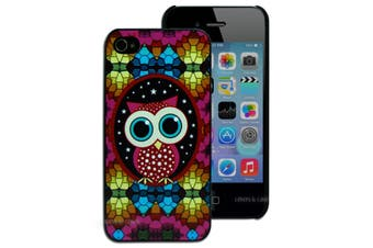 Colourful Owl Hard Back Case for Apple iPhone 4 4S