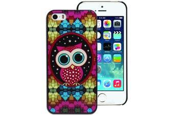 Colourful Owl Hard Back Case for Apple iPhone 5 5S SE