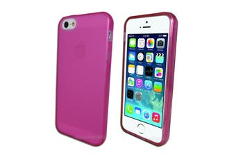 Pink Frosted Flexible Soft Gel Case for Apple iPhone 5 5S SE