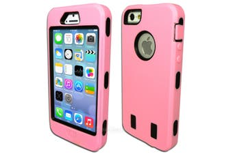 Light Pink Three Piece Heavy Duty Hard Case for iPhone 5 5S SE (with Screen)