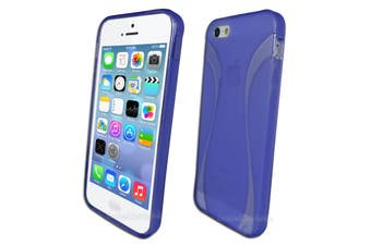 Purple Flexible Frosted Curved Gel Case for Apple iPhone 5 5S SE