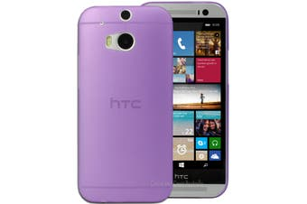 Purple Ultra Thin Frosted Matte Flexible Plastic Hard Case for HTC One M8 Cover