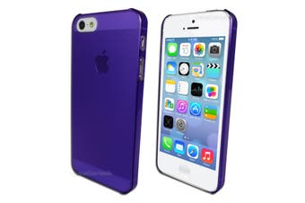 Purple Ultra Thin Frosted Hard Back Case for Apple iPhone 5 5S SE