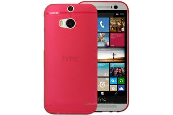 Red Ultra Thin Frosted Matte Flexible Hard Case for HTC One M8 Plastic Cover