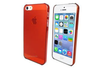 Red Ultra Thin Frosted Matte Hard Case for Apple iPhone 5 5S SE