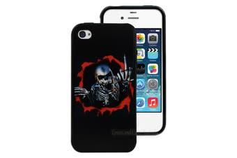 Black Skeleton Printed Hard Back Case for Apple iPhone 4 4S