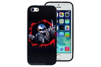 Black Skeleton Printed Hard Back Case for Apple iPhone 5 5S SE