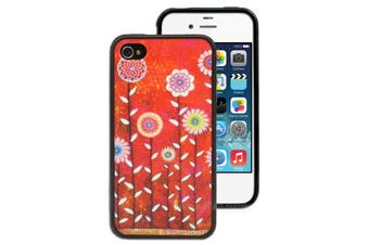 Colourful Flowers Printed Case for Apple iPhone 4 4S