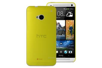 Yellow Ultra Thin Frosted Matte Flexible Plastic Hard Case for HTC One M7 Cover
