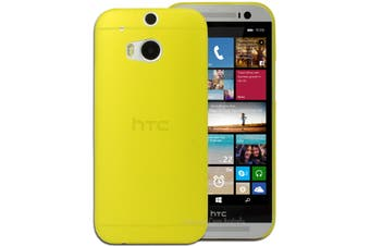 Yellow Ultra Thin Frosted Matte Flexible Plastic Hard Case for HTC One M8 Cover