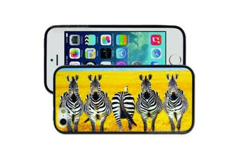 Yellow Zebra Printed Hard Back Case for Apple iPhone 5 5S SE