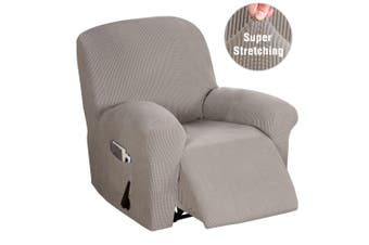 Stretch Recliner Chair Cover Thick Soft Jacquard Recliner Cover Sofa Slip Cover for Recliner Chair, Form Fitted, Machine Mashable, Taupe
