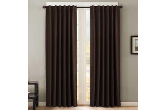 2 Panels Pair Curtains Blockout for Living Room/Bedroom, Rod Pocket/ Back Tab Blackout Window Curtain Drapes, Brown