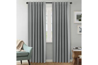 2 Panels Pair Curtains Blockout for Living Room/Bedroom, Rod Pocket/ Back Tab Top Blackout Window Curtain Drapes, Dove Grey