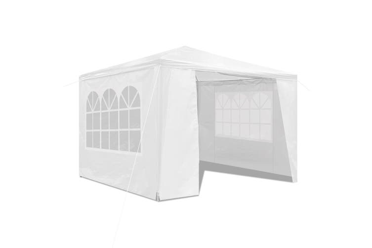 3x3M Outdoor Party Wedding Tent Canopy Gazebo with Walls   White