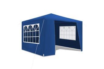 3x3m Blue Walled Waterproof Outdoor Gazebo
