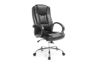 PU Leather Adjustable Office Computer Chair   Black