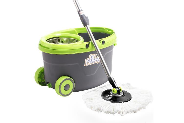 Spinning Bucket Mop System +4 Mop Heads