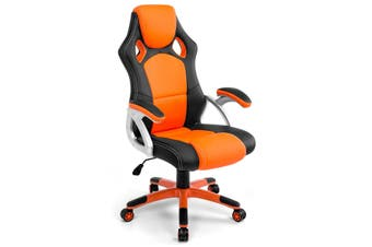 Gaming Office Chair with Adjustable Tilt   Black Orange