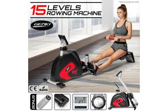 Genki Fitness Rowing Machine Exercise Workout Rower   15 Levels