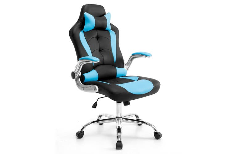 Adjustable PU Gaming & Racing chair Office Computer Chair   Black