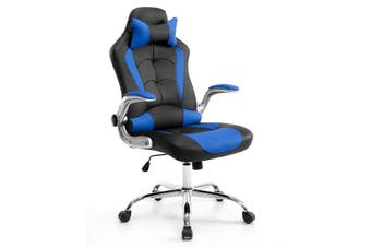 Neader PU Office Computer Chair Gaming Racing Chair   Black & Blue
