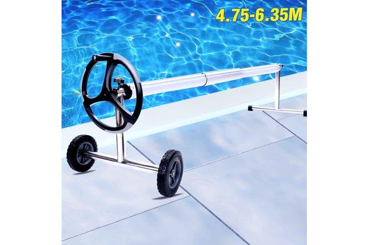 9.5M x 5M Swimming Pool Cover Reel Set Solar Blanket Roller Wheel  500 Micron