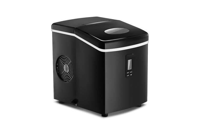Portable Ice Maker Machine Black Coated 3.2 L