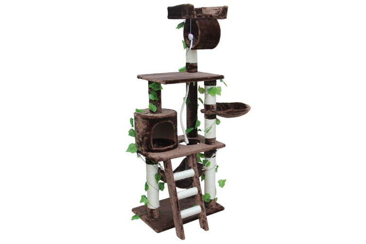 Cat Tree Condo Furniture Activity Tower Play House Medium Mocha 155cm