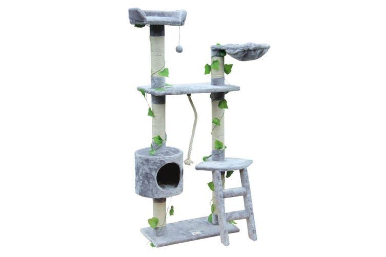 Cat Scratching Post Cat Scratch Gym Climbing Tree   Grey 145cm