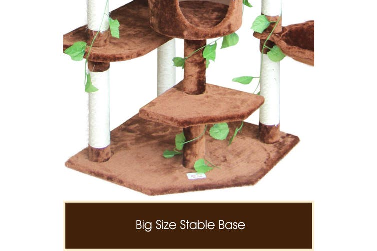 Cat Scratching Tree Scratcher Post 2.1m Brown