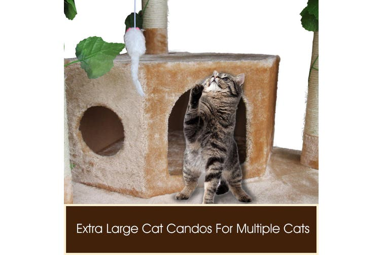 Cat Scratching Tree Scratcher Post 2.1m Beige