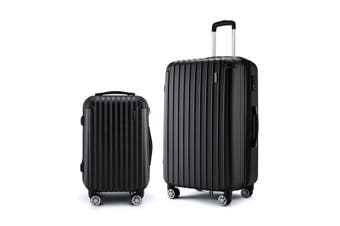 Hard Shell Luggage set of 2 with TSA Lock   Black
