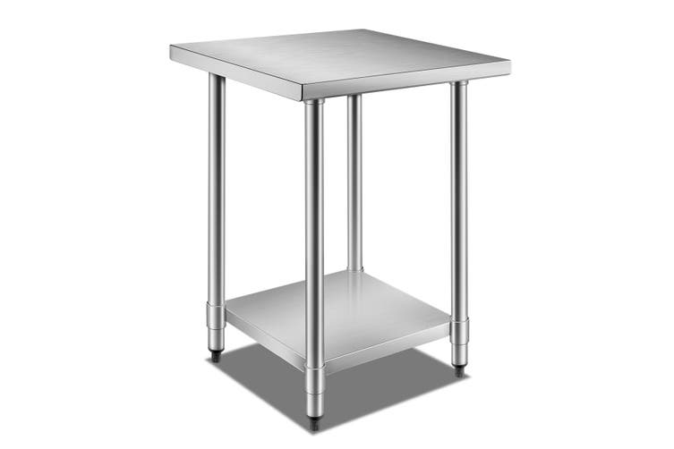 Galvanized Steel 61cm x 61cm Kitchen Workbench and Food Prep Table